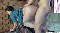 Sexo anal com coroa safada dando